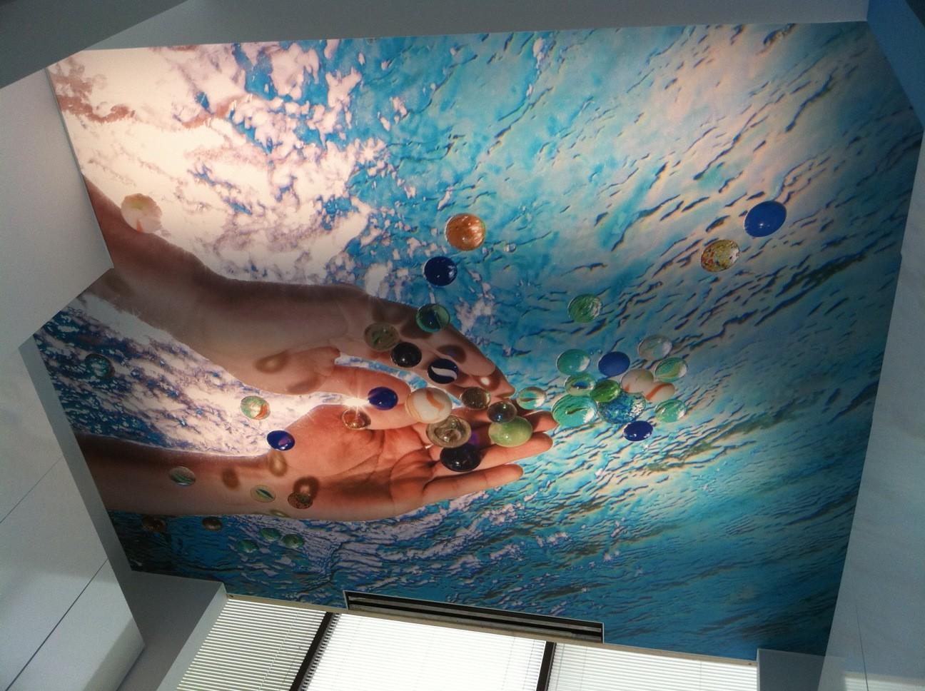 Натяжные потолки 3д фотопечать фото